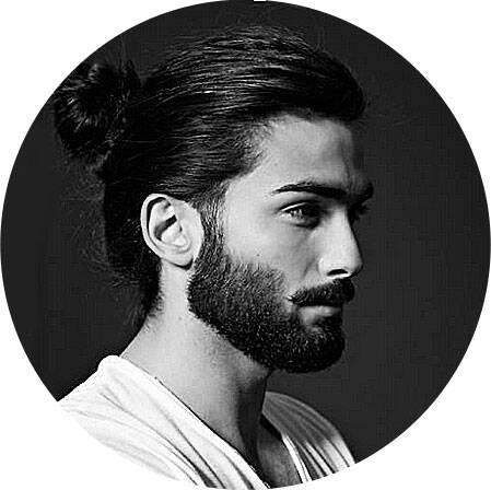 Мужская стрижка длинные волосы хвост