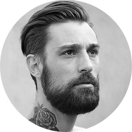 прическа под бороду